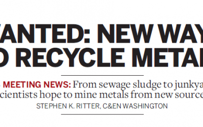 Wanted: new ways to recycle metals (C&EN, April 2015)