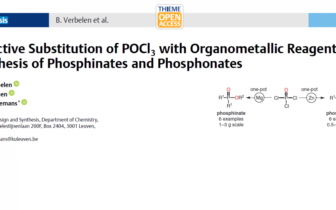 Novel approach to phosphinates and phosphonates