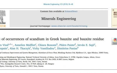 Scandium in Greek bauxite and bauxite residue