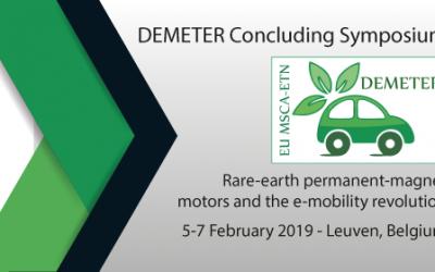 Register for the DEMETER Closing Symposium (5-7 Feb' 2019)