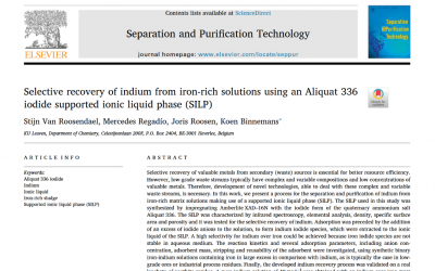 New process to recover indium from iron-rich solutions