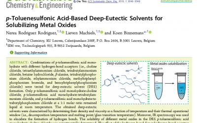 Deep Eutectic Solvents for solubilisation of metal oxides