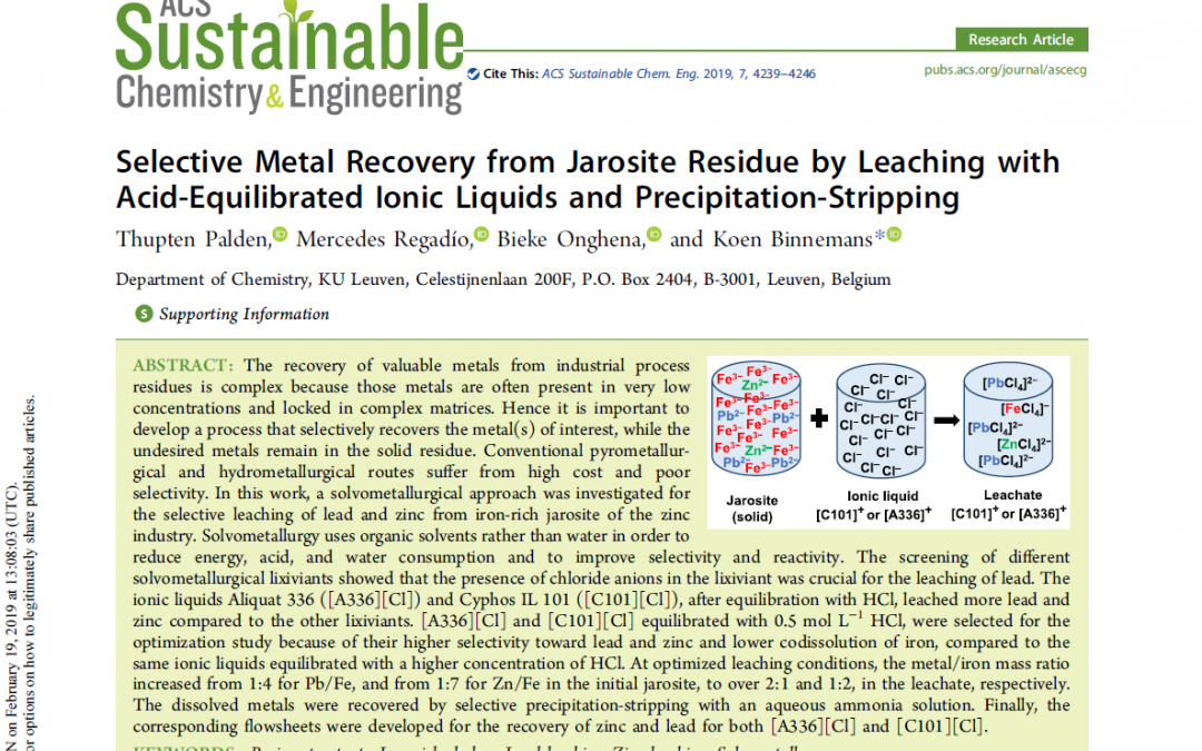 Selective metal recovery from Fe-rich industrial residues