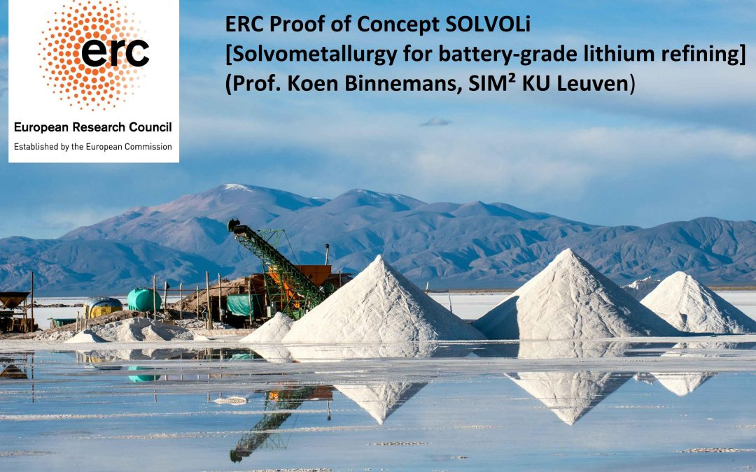 Binnemans obtains prestigious ERC PoC Grant for lithium refining