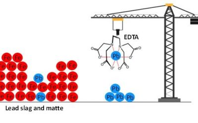 Selective leaching of lead from matte and slag of lead smelter plants using EDTA